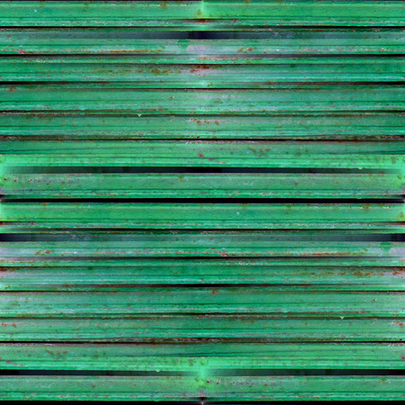green seamless grunge texture of old iron shutters photo