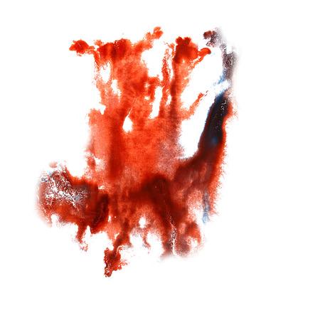 trabajo manual: Ilustraci�n divorcio Blot Rojo, artista negro del trabajo hecho a mano es aislado