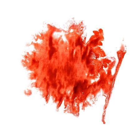 trabajo manual: Divorcio Blot La ilustraci�n artista roja del trabajo hecho a mano est� aislado en el fondo blanco Foto de archivo