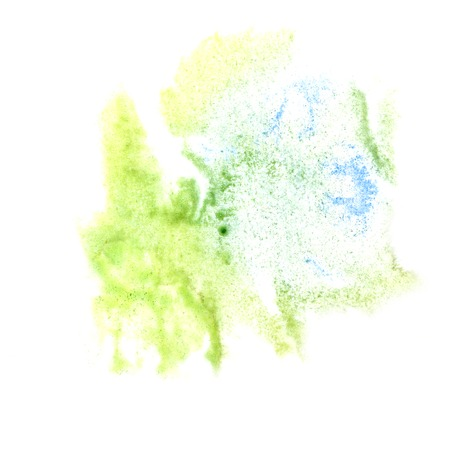 the ink blot: ink blot green, gray. splatter background isolated on white hand painted