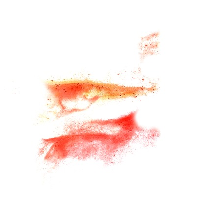 the ink blot: ink blot red, orange.. splatter background isolated on white hand painted
