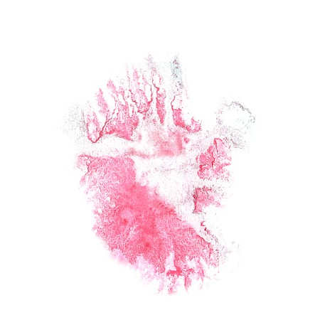 the ink blot: ink blot splatter background pink isolated on white hand  painted