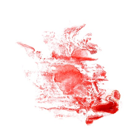 trabajo manual: Ilustraci�n divorcio Blot artista roja del trabajo hecho a mano est� aislado en Foto de archivo