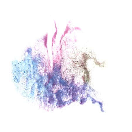 green purple: stain green, purple, pink with watercolour paint stroke watercolor isolated