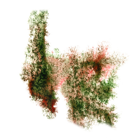 insult: Abstract watercolor green,brown background for your design insult