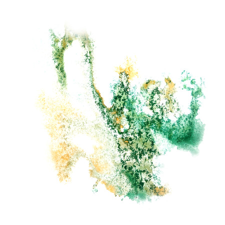 insult: Abstract watercolor green,yellow background for your design insult