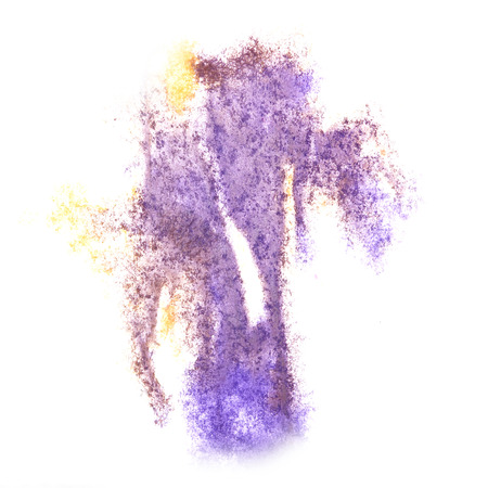 insult: Abstract watercolor lilac, yellow background for your design insult