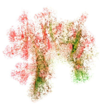 insult: Abstract watercolor red,green,brown background for your design insult Stock Photo