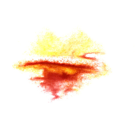 insult: Abstract watercolor yellow,cherry background for your design insult