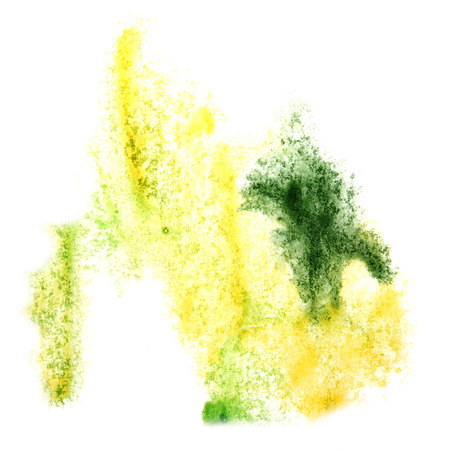 insult: Abstract watercolor yellow,green background for your design insult Stock Photo
