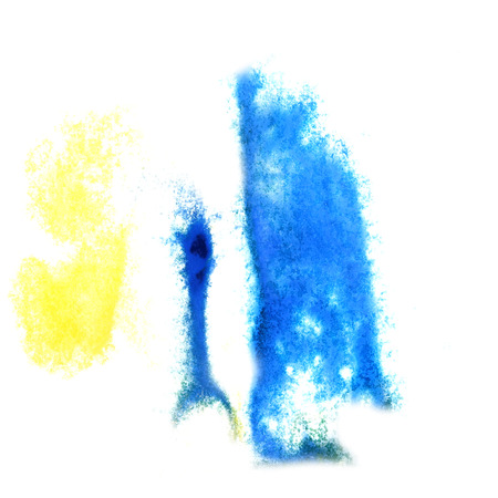 insult: Abstract yellow ,blue watercolor background for your design insult Stock Photo