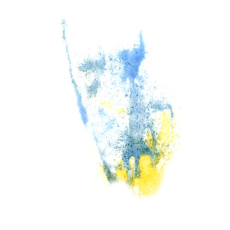 insult: Abstract yellow,blue watercolor background for your design insult