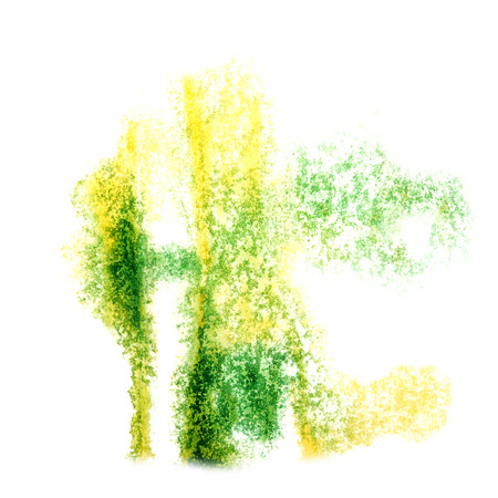 insult: Abstract yellow,light green  watercolor background for your design insult