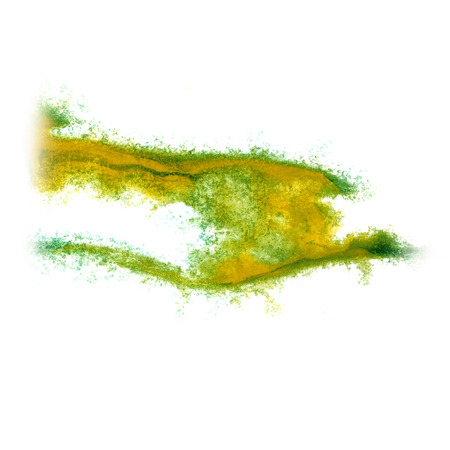 insult: Abstract green, yellow watercolor background for your design insult