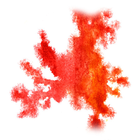 insult: Abstract orange,red watercolor background for your design insult art Stock Photo