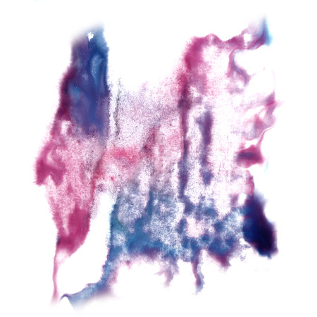 insult: Abstract blue, light pink watercolor hand painted background insult Rorschach psychology