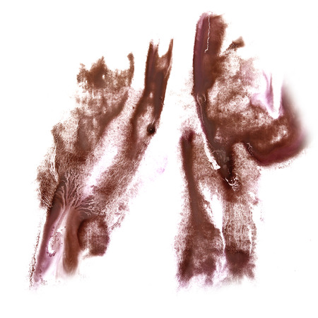 insult: Abstract brown watercolor hand painted background insult Rorschach psychology