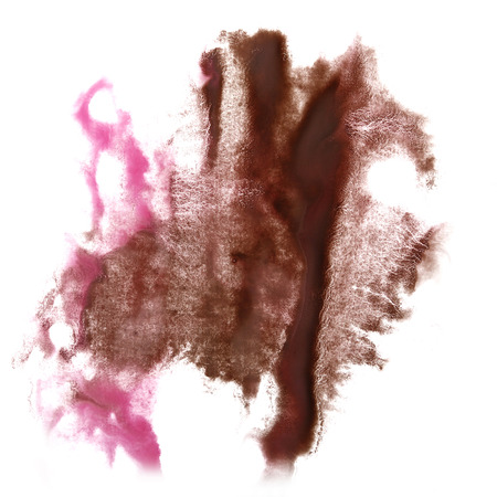 insult: Abstract brown, pink watercolor hand painted background insult Rorschach psychology Stock Photo