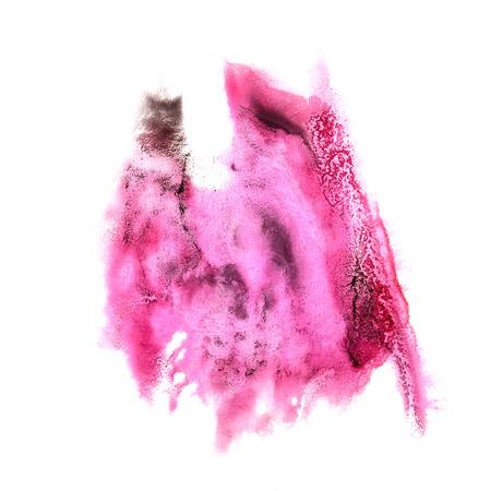 rosa negra: mancha rosa, negro con pintura de acuarela acuarela derrame cerebral aislada