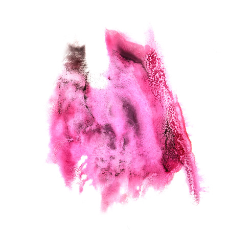 rosa negra: stain pink, black with watercolour paint stroke watercolor isolated Foto de archivo