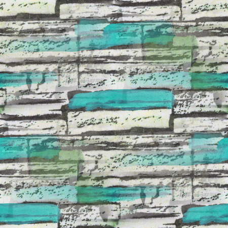 bog: seamless turquoise, bog bricks texture background wallpaper pattern ancient Stock Photo