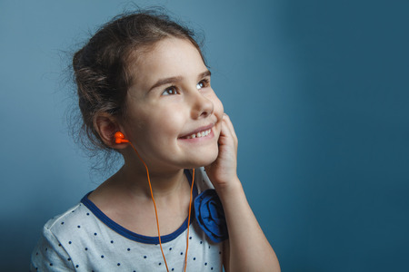 five years': Girl European appearance five years listening to music