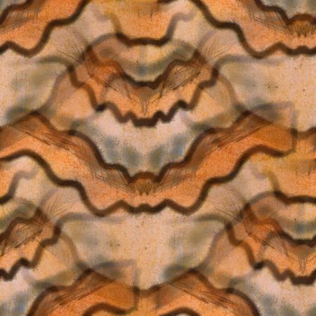 semicircular: Seamless yellow semicircular strip ancient ornament wallpaper ba