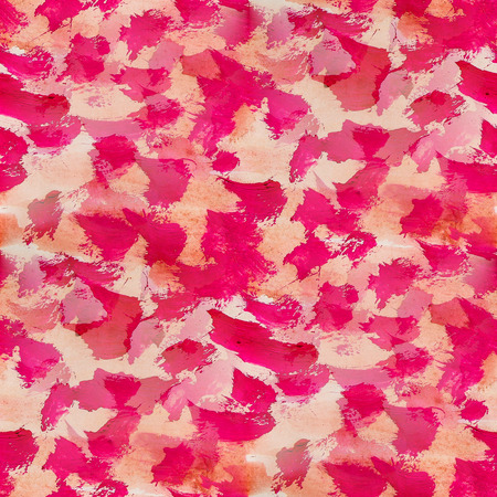 watercolor smear: seamless  background watercolor red smear brush color water abstract art Stock Photo
