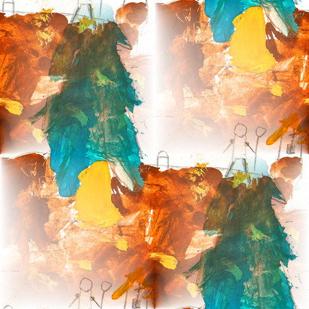 green brown: seamless  background watercolor green brown brush color water abstract art