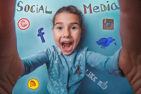 yells: teen girl social  media infographics sketch self yells makes