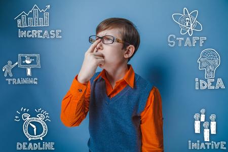 thumbnail: boy in the orange shirt businessman corrects glasses thumbnail icons set business strategy