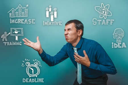 thumbnail: man twisted his face stretched out his hand forward nausea thumbnail icons set business strategy