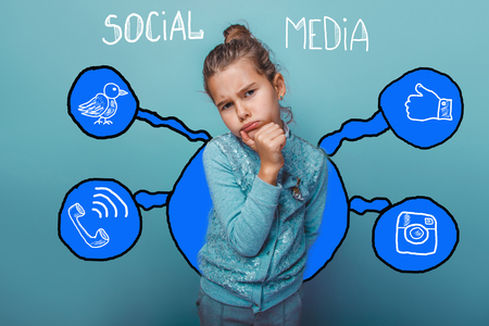 hand on the chin: holding girl  hand chin lost in thought social media infographics sketch Internet