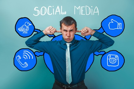shirt and tie: man in shirt tie his ears fingers deaf social media infographics sketch Internet