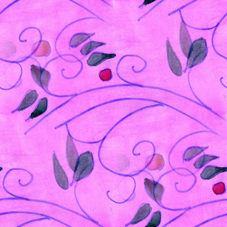 violet flowers: watercolor  purple violet flowers seamless handmade wallpaper  background