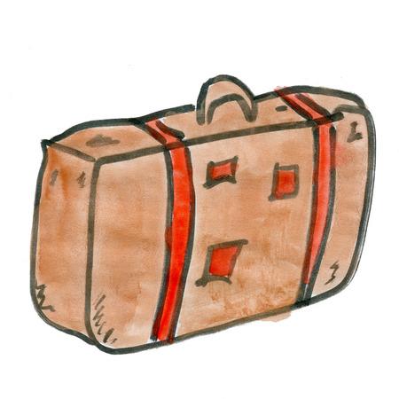 cartoon suitcase: cartoon suitcase isolated on a white background