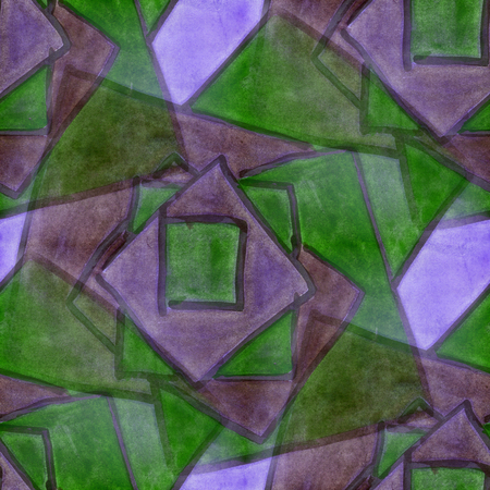 cubism: Art  Mosaics green purple cubism abstract style of picasso seamless wallpaper watercolor