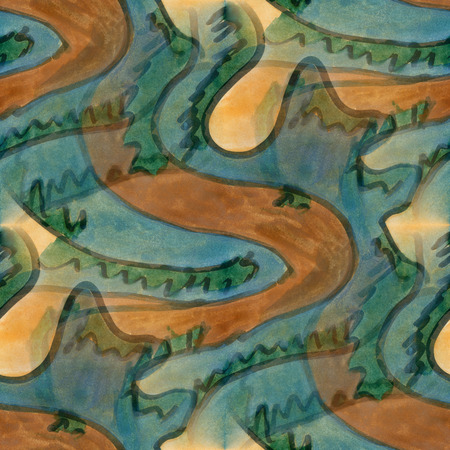cubism: Art  brown green cubism abstract style of picasso seamless wallpaper watercolor