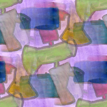 cubism: Art  cubism purple green abstract style of picasso seamless wallpaper watercolor