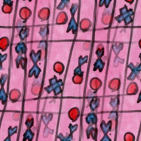 cross  toe ornament seamless texture wallpaper watercolor