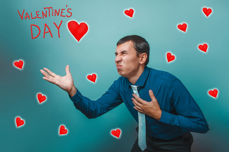 sketch out: business man stretches out his hand forward style Valentines Day celebration cartoon sketch