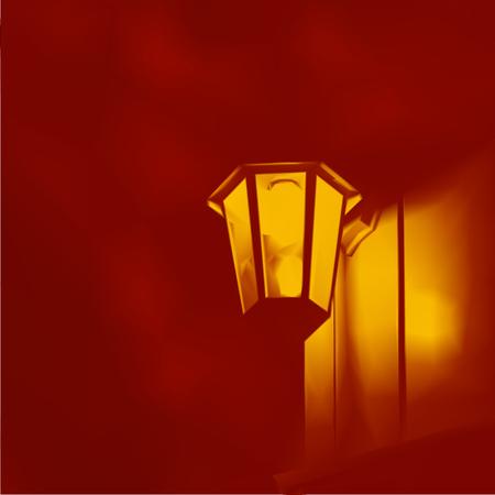streetlight: lamp  street lights vector illustration background mesh Illustration