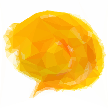 comic bubble: Low poly  design triangular chat speech bubble comic clouds polygon Illustration