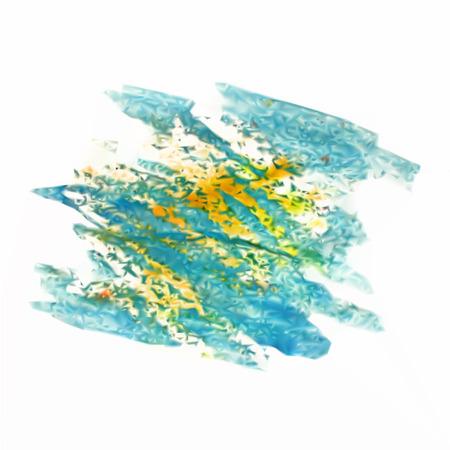 blotch: watercolor  blue yellow blotch isolated vector mesh Stock Photo