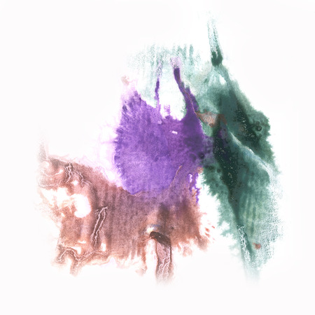 green ink: splash  abstract watercolor brown green ink blot watercolour isolated white background