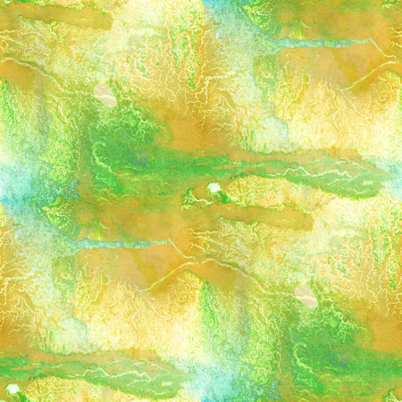 watercolor texture: art seamless  watercolor pattern background abstract texture water paper yellow green design wallpaper Stock Photo