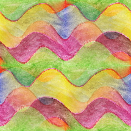 colorful stripes: art avant-garde  yellow green purple impressionism seamless watercolor handmade abstract