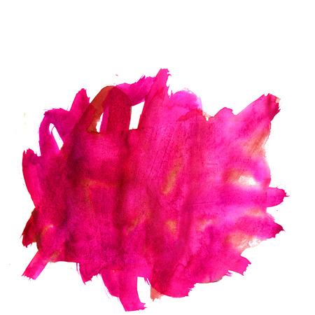 texture aquarelle couleur éclaboussures d'eau Tache aquarelle rose orange isolé sur fond blanc