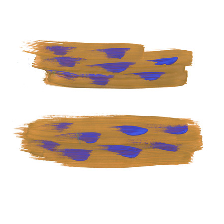 smear: watercolor  blotch handmade brown purple smear isolated on white background Stock Photo