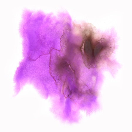 splotches: color splash stroke abstract watercolor spot macro watercolour purple pink blotch texture isolated white background